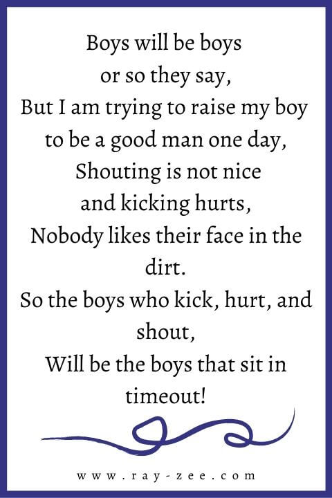 poem about parenting a boy